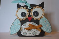 Owl gift bag by The Pursuit of Stampiness and Stampin Up materials