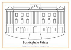 Buckingham Palace Colouring Page