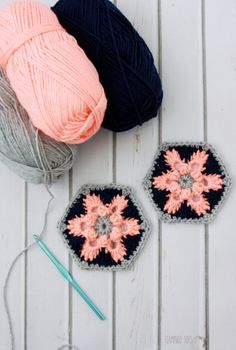 Free pattern - Star Lily Hexagon