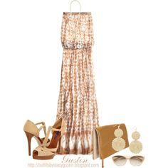 Strapless Summer Dress and Ralph Lauren Heels :)
