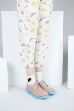 Dinosaur Print Jumpsuit Multicolour http://www.thewhitepepper.com/collections/jumpsuits/products/dinosaur-print-jumpsuit-multicolour Roll Top Heart Ankle Socks Cream http://www.thewhitepepper.com/collections/socks/products/roll-top-heart-ankle-socks-cream Contrast Tread Brogue Pink http://www.thewhitepepper.com/collections/shoes/products/contrast-tread-brogue-pink