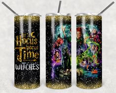 Our tumblers are 20 oz sublimation skinny straight tumblers. Double-WallVacuum InsulatedClear Sliding LidClear Plastic StrawBlack Rubber Bottoms Care Instructions Hand Wash OnlyDo Not SoakNot Dishwasher SafeNot Microwave SafeAvoid Extreme HeatDo Not Drop Diy Tumblers, Custom Tumblers, Glitter Tumblers, Hocus Pocus Witches, Amy, Three Witches, Sanderson Sisters, Metal Straws, Tumbler Cups