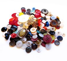 Buttons.  My Mom had a cookie tin filled with them and I spent hours playing with them.