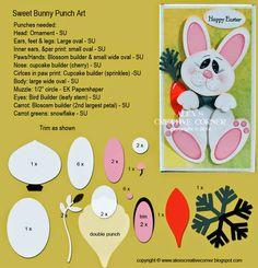 Sweet Bunny Punch Art - bjl