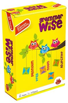 GRAMMAR+WISE+Educational+Game+of+Language+and+Vocabulary+-+Fun+and+innovative+game+that+makes+boring+grammar+colourful+and+fun.+Test+your+knowledge+of+nouns,+verbs,+adjectives+and+pronouns.+Have+fun+matching+words+and+parts+of+speech+and+be+the+first+to+get+rid+of+all+your+tokens.Contents: 40+cardboard+tokens2+start+cardboard+tokens1+wooden+colour+die1+Answer+sheetInstructionsAge:6+yrs++Size+of+box:16+cm+x+24+cm+x+7+cm2+to+4+players