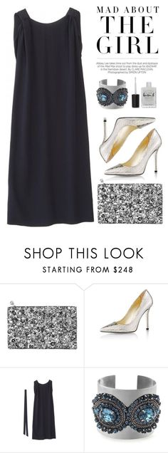 """""""Mad about... the metalic shoes!"""" by runway2street ❤ liked on Polyvore featuring Kershaw, Forest of Chintz, Emy Mack, Indress and Lauren B. Beauty"""