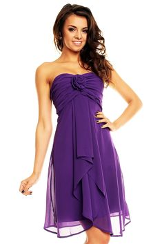 Karen Millen Rose Corsage Pencil Satin kjoler Purple,karen
