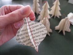 darling petunia: Book Page Ornament Tutorial
