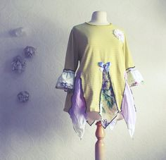 Plus Size Tunic Top 2X Shabby Chic Clothing by BrokenGhostCouture
