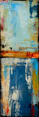Urban Content on wood by Erin Ashley Art