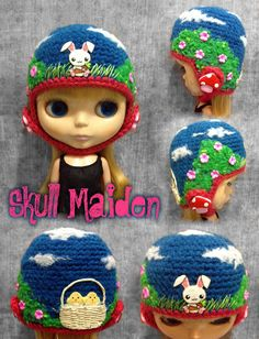 Skull Maiden Creative People, Creative Things, Kids Hats, Hat Making, Knitting Yarn, Pin Cushions, Blythe Dolls, Have Time, Crochet Projects