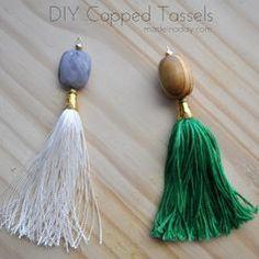 DIY Capped Tassels t