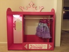 Perfect dress up station for the little princess in your life little girl dress up caddy do it yourself home projects from ana white solutioingenieria Images