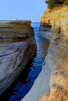 Canal D'Amour at #Corfu island. Magic.. #YachtcharterGriechenland #YachtcharterIonischesmeer