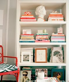 love this bookshelf styling