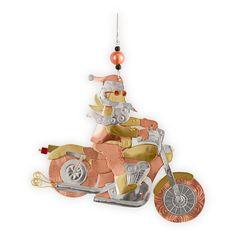 Santa Motorcycle  Metal Fair Trade Ornament in Last Chance 2012 from Fair Indigo