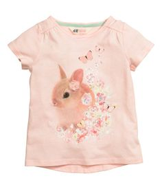 Printed Jersey Top | Light pink | Kids | H&M US