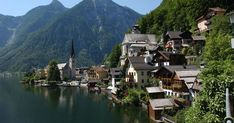 Hallstatt village in the northern Alps, Austria. Klagenfurt, Innsbruck, Cool Countries, Countries Of The World, Hallstatt, Le Village, Lake Mountain, Le Palais, Win A Trip