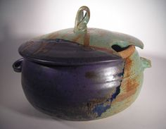 Purple and Green Soup Tureen by Dock 6 Pottery. American Made. 2013 Buyers Market of American Craft. americanmadeshow.com