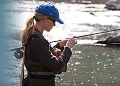 Women who fly fish is on the rise. I still want to learn how to....#ELSummerFun