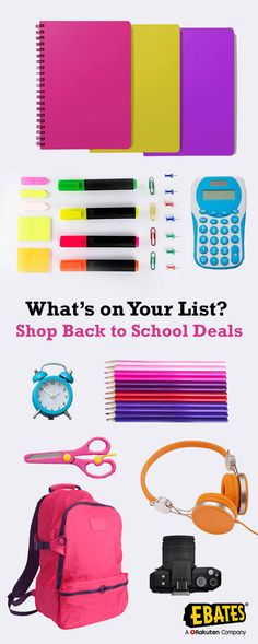Find the best Back to School deals to start the year off right! From school clothes to supplies, find the best sales and save with promo codes & Cash Back at Ebates!