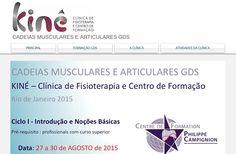 Formação CADEIAS MUSCULARES E ARTICULARES GDS - Introdução e Noções Básicas. Rio de Janeiro 27 a 30 AGOSTO 2015.