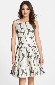 Helene Berman Floral Jacquard Drop Waist Dress available at #Nordstrom