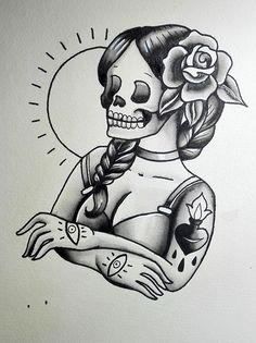 Afbeeldingsresultaat voor black and grey traditional tattoo flash Traditional Tattoo Flash Sheets, Traditional Tattoo Old School, Traditional Tattoo Art, Traditional Tattoo Black And Grey, Tattoo Sketches, Tattoo Drawings, Body Art Tattoos, Tatoos, Portrait Tattoos
