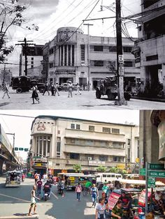 """KAPITAN PEPE BUILDING *The building was designed by Juan Nakpil *Capitan pepe is the late husband of Doña Narcisa """"Sisang"""" De Leon of LVN pictures *The Moonlight Terrace and Central Hotel were once tenant of the building *The building Still standing Les Philippines, Philippines Culture, Filipino Architecture, Philippine Architecture, Then And Now Pictures, Philippine Holidays, Philippine Art, Filipino Culture, Philippines"""