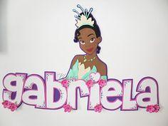 Aplique de la Princesa Tiana de Disney Princesa Tiana, Picasa Web Albums, Wooden Letters, Princess Peach, Names, Baby Shower, Crafts, Banners, Tumbler