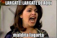 "This Supercut Of ""María La Del Barrio's"" Soraya Montenegro Dramatically Yelling 'Lárgate' Is Epic"