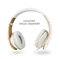 Sound Intone Hifi Stereo Kopfhörer gold/weiß (über amazon)