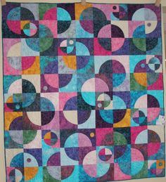 Lap or Sofa Size Batik Quilted throw -  Planets N Moons. $829.00, via Etsy.