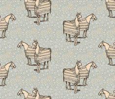 William Morris' Baker Blanketed Horse fabric by ragan on Spoonflower - custom fabric