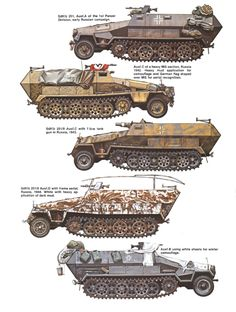Sd.Kfz.251 ausf.A/C/C/D/B