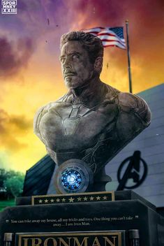 The Avengers 392094711309595840 - Iron Man, Tony Stark ~ YES! A huge remind of Tony Stark, a statue dedicated to home, not a tiny wreath floating on a lake. Something people can actually visit! Marvel Comics, Marvel Avengers, Hero Marvel, Iron Man Avengers, Marvel Fan, Marvel Memes, Captain Marvel, Captain America, Comics Spiderman