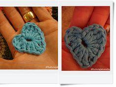 KahviKaneli Virkkaa: Virkattu pieni sydän - ohje mukana, Tiny Crochet Heart Merino Wool Blanket