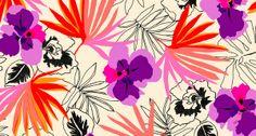 Kate Spade 'Tahitian Florals' Print