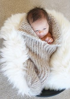 Knit Newborn Cocoon Photography Prop.via Etsy.