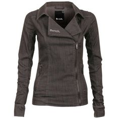 Denim Biker Jacket (Grey) by Bench