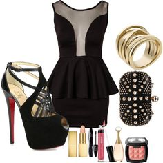 Clubbing outfit, you know for all the clubbing I'll be doing after the baby...