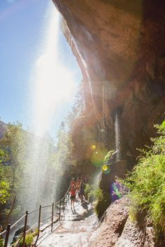 Zion Emerald Pools Waterfall