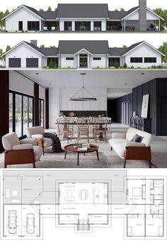 Home Plan, House Plans, Floor Plans Barn House Plans, New House Plans, Dream House Plans, Modern House Plans, Small House Plans, House Floor Plans, Country House Design, Modern House Design, Dream Home Design