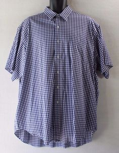 Polo Golf Ralph Lauren Blue Gingham Short Sleeve Men's Casual Shirt - XLarge XL…