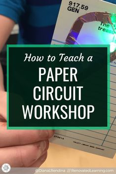 How to Teach a Paper Circuit Workshop // Want your students to learn about electricity while having fun? Try hosting a paper circuit workshop. Stem Curriculum, Stem Classes, Steam Learning, Simple Circuit, 21st Century Skills, Circuit Projects, Paper Circuit, Upper Elementary, I School