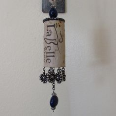 Wine Cork Ornament by SalvageReimagined on Etsy