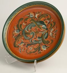 Bowl with Telemark Rosemaling by Susan Louthain