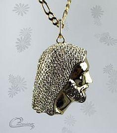 Joias Masculinas - Pingente face de Cristo com corrente com 10 camadas de ouro 18k e na versão  rodio negro - Puro luxo!