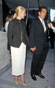 JFK Jr with his wife Carolyn Bessette-Kennedy