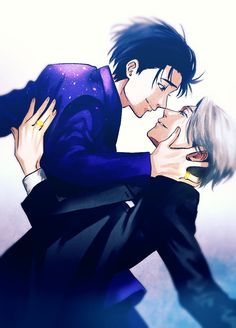 Yuri x Victor maybe I pinned it already but I just Love this posture